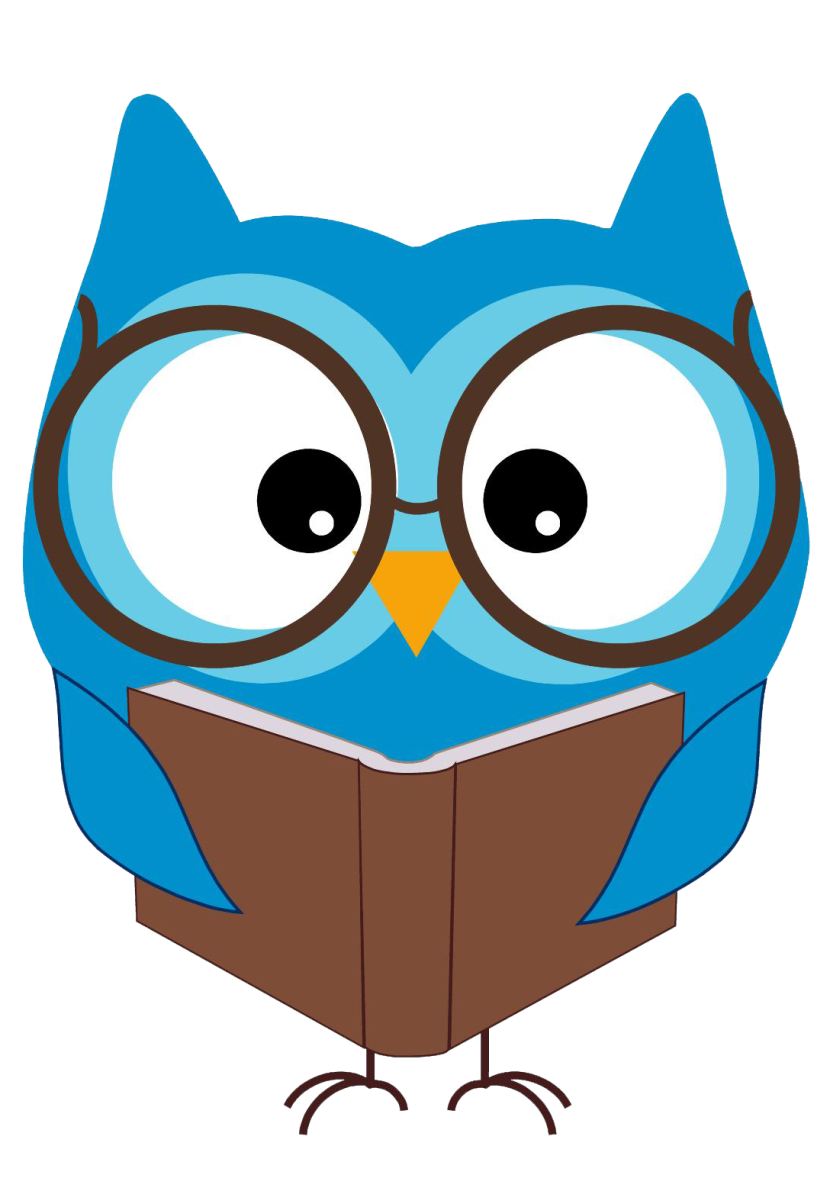 Picture of Blue Owl Reading a Book
