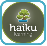 Picture of button with bonsai tree and  Haiku Learning